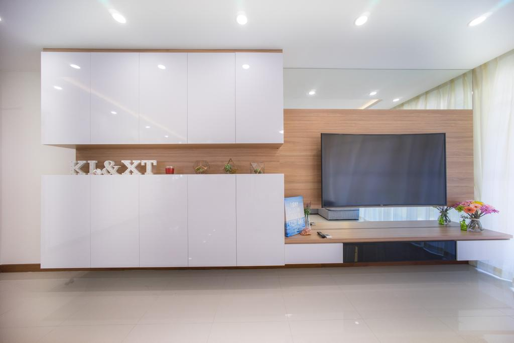 Contemporary, HDB, Living Room, Compassvale Drive (Block 216C), Interior Designer, Team Interior Design, Indoors, Interior Design