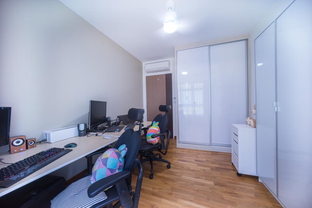 Compassvale Drive (Block 216C), Team Interior Design, Contemporary, Study, HDB, Luggage, Suitcase, Studio, Building, Housing, Indoors