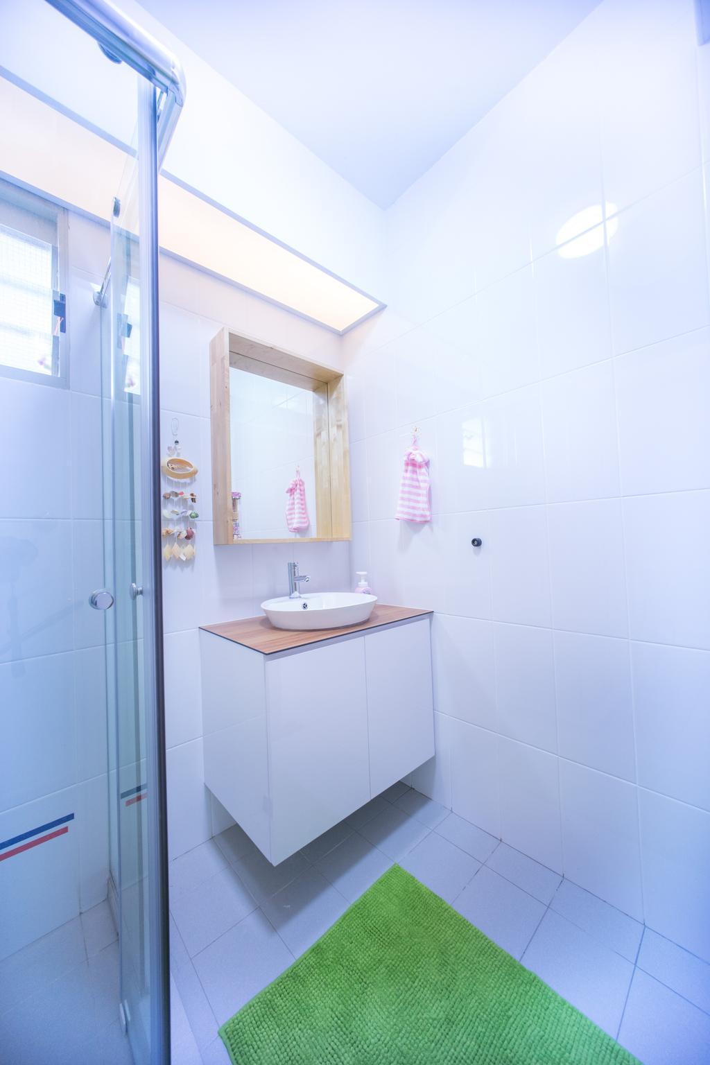 Contemporary, HDB, Bathroom, Compassvale Drive (Block 216C), Interior Designer, Team Interior Design, Indoors, Interior Design, Room