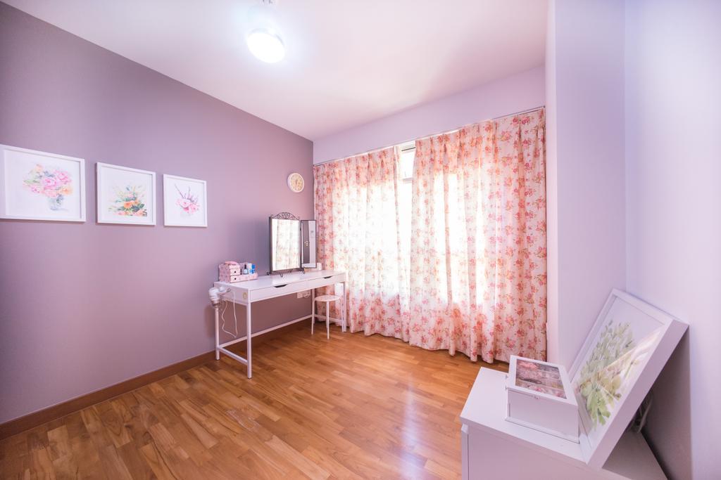 Contemporary, HDB, Bedroom, Compassvale Drive (Block 216C), Interior Designer, Team Interior Design, Wall, Floor, Flooring, Hardwood, Wood