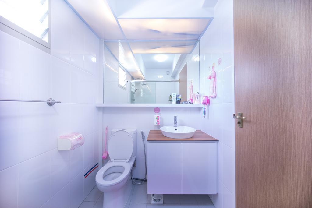 Contemporary, HDB, Bathroom, Compassvale Drive (Block 216C), Interior Designer, Team Interior Design, Toilet, Indoors, Interior Design, Room