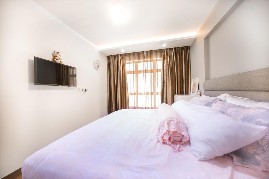 Contemporary, HDB, Bedroom, Compassvale Drive (Block 216C), Interior Designer, Team Interior Design, Furniture, Sideboard, Indoors, Interior Design, Room