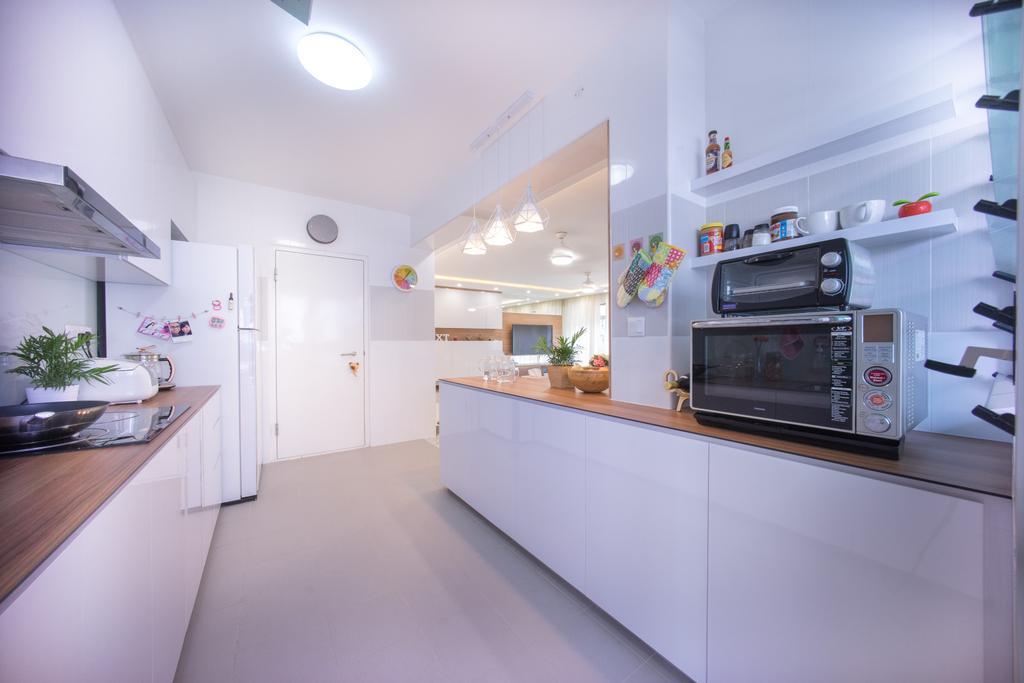 Contemporary, HDB, Kitchen, Compassvale Drive (Block 216C), Interior Designer, Team Interior Design, Appliance, Electrical Device, Oven