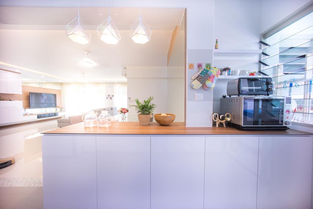 Contemporary, HDB, Kitchen, Compassvale Drive (Block 216C), Interior Designer, Team Interior Design, Indoors, Interior Design, Room
