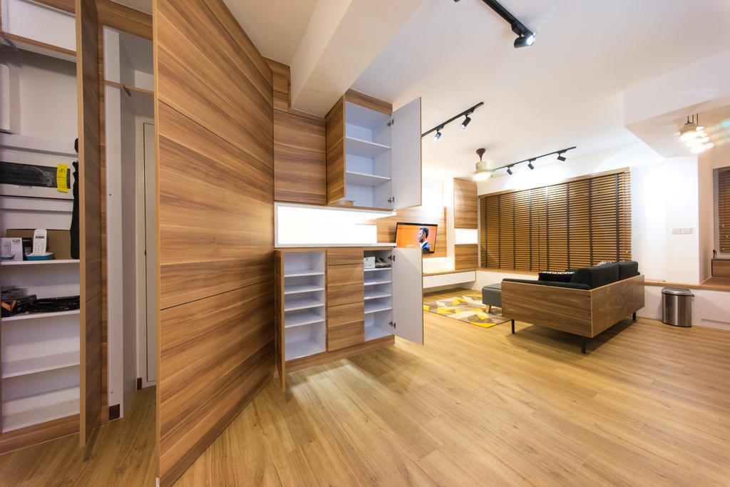 Scandinavian, HDB, Living Room, Compassvale Bow (Block 274A), Interior Designer, Team Interior Design, Flooring, Indoors, Interior Design