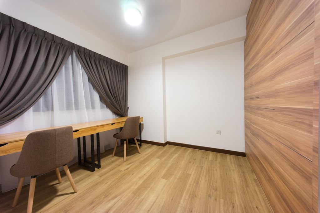 Scandinavian, HDB, Study, Compassvale Bow (Block 274A), Interior Designer, Team Interior Design, Chair, Furniture, Dining Table, Table, Plywood, Wood