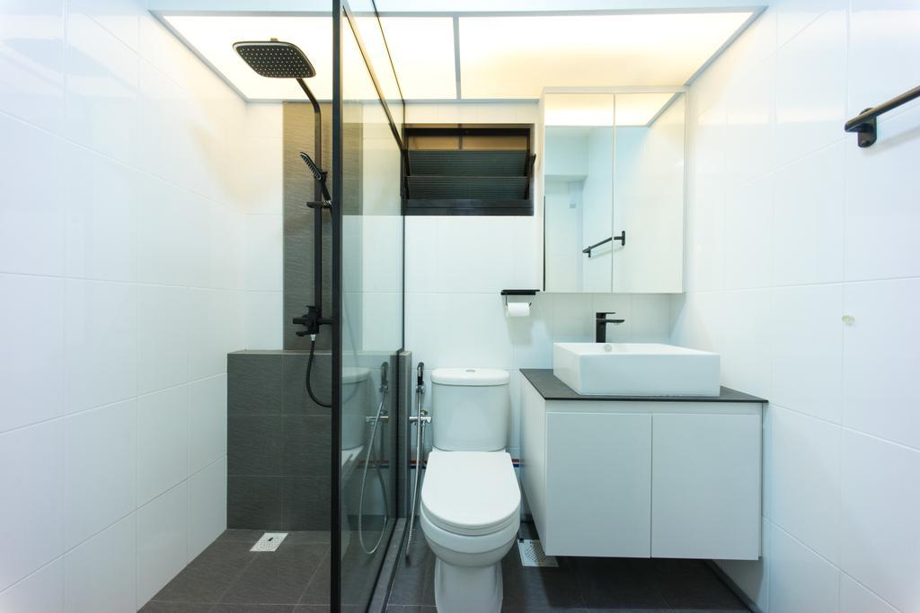 Scandinavian, HDB, Bathroom, Compassvale Bow (Block 274A), Interior Designer, Team Interior Design, Toilet