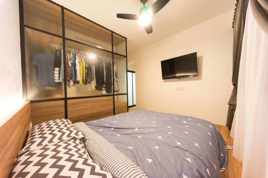 Scandinavian, HDB, Bedroom, Compassvale Bow (Block 274A), Interior Designer, Team Interior Design, Indoors, Interior Design, Room, Bed, Furniture