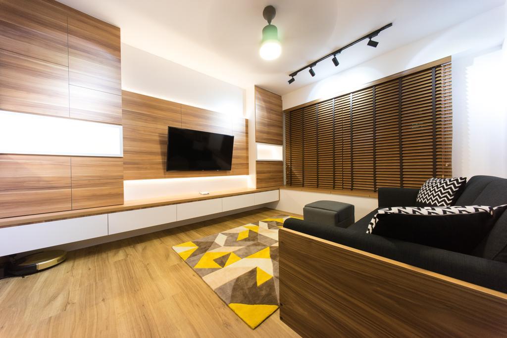 Scandinavian, HDB, Living Room, Compassvale Bow (Block 274A), Interior Designer, Team Interior Design, Couch, Furniture, Indoors, Interior Design, Room