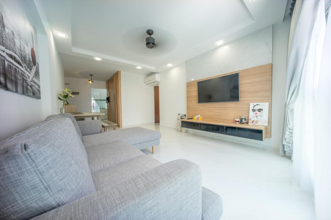 Compassvale Drive (Block 275A), Team Interior Design, Minimalistic, Living Room, HDB, Indoors, Interior Design, Room, Blizzard, Nature, Outdoors, Snow, Storm, Weather, Winter, Bedroom