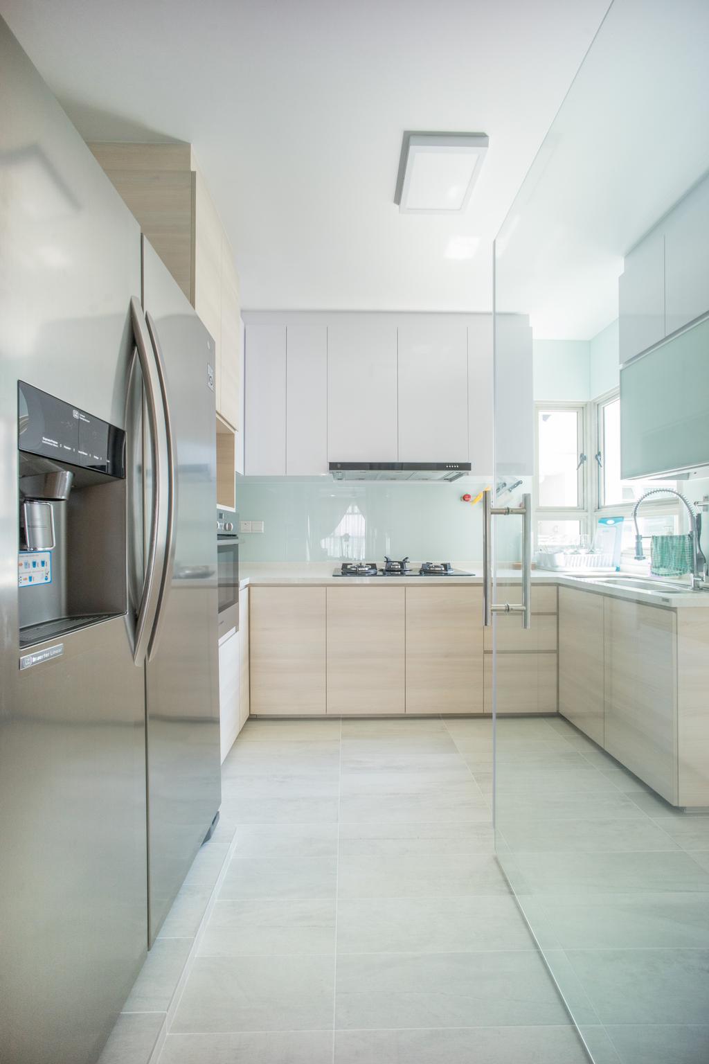Minimalistic, HDB, Kitchen, Compassvale Drive (Block 275A), Interior Designer, Team Interior Design