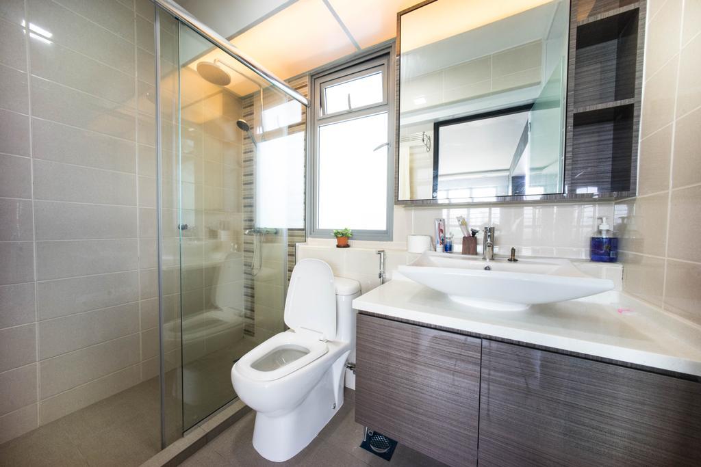 Contemporary, HDB, Bathroom, Hougang Capeview (Block 477C), Interior Designer, Team Interior Design, Toilet, Indoors, Interior Design, Room