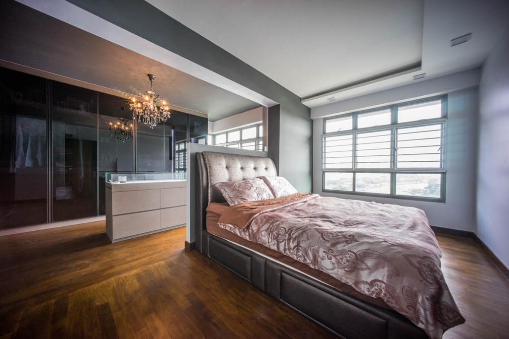 Contemporary, HDB, Bedroom, Hougang Capeview (Block 477C), Interior Designer, Team Interior Design, Bed, Furniture