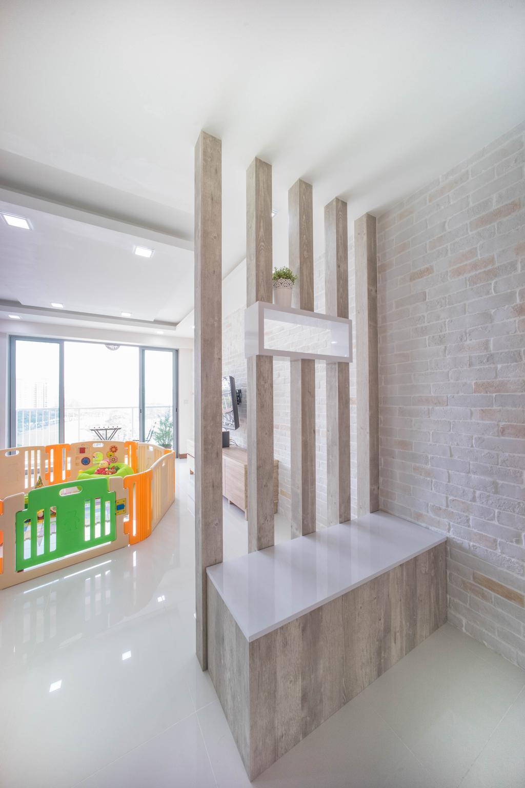Contemporary, HDB, Living Room, Hougang Capeview (Block 477C), Interior Designer, Team Interior Design, Crib, Furniture, Indoors, Interior Design
