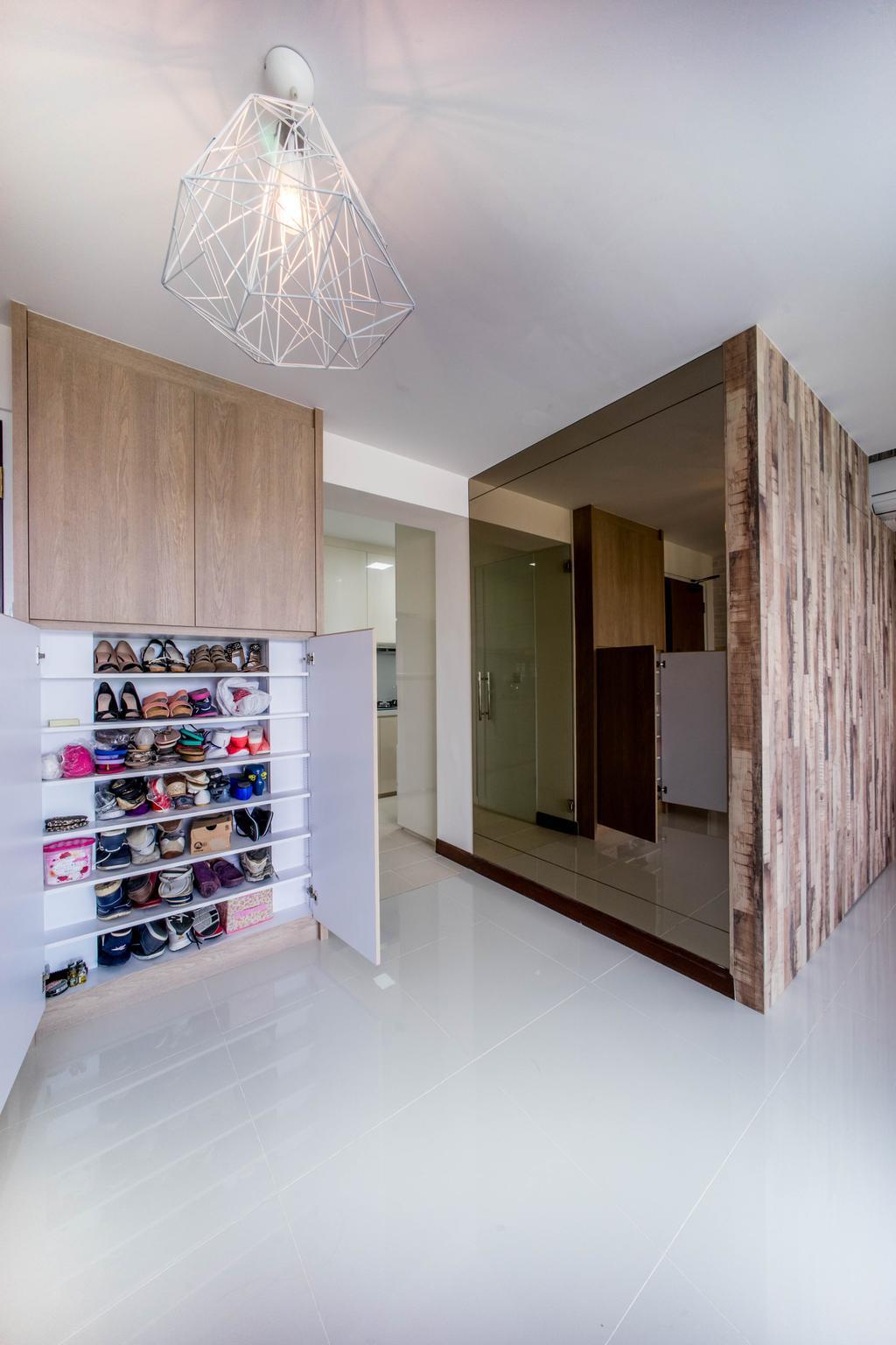 Contemporary, HDB, Living Room, Hougang Capeview (Block 477C), Interior Designer, Team Interior Design, Shoe Shop, Shop
