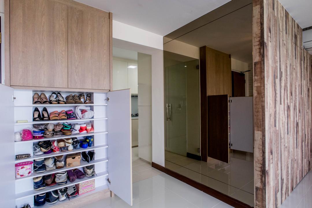 Hougang Capeview (Block 477C), Team Interior Design, Contemporary, Living Room, HDB, Shoe Shop, Shop