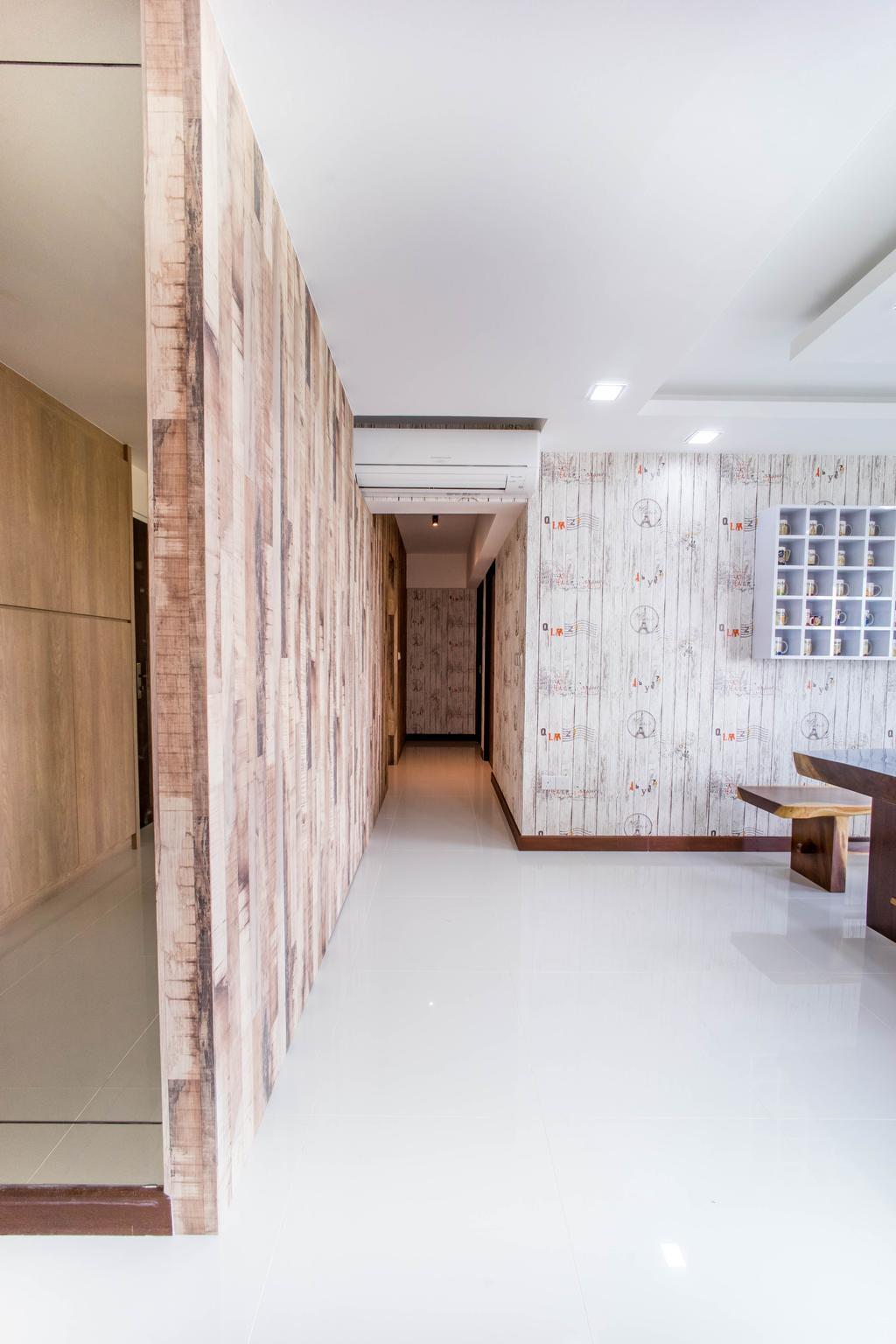 Contemporary, HDB, Living Room, Hougang Capeview (Block 477C), Interior Designer, Team Interior Design, Paper