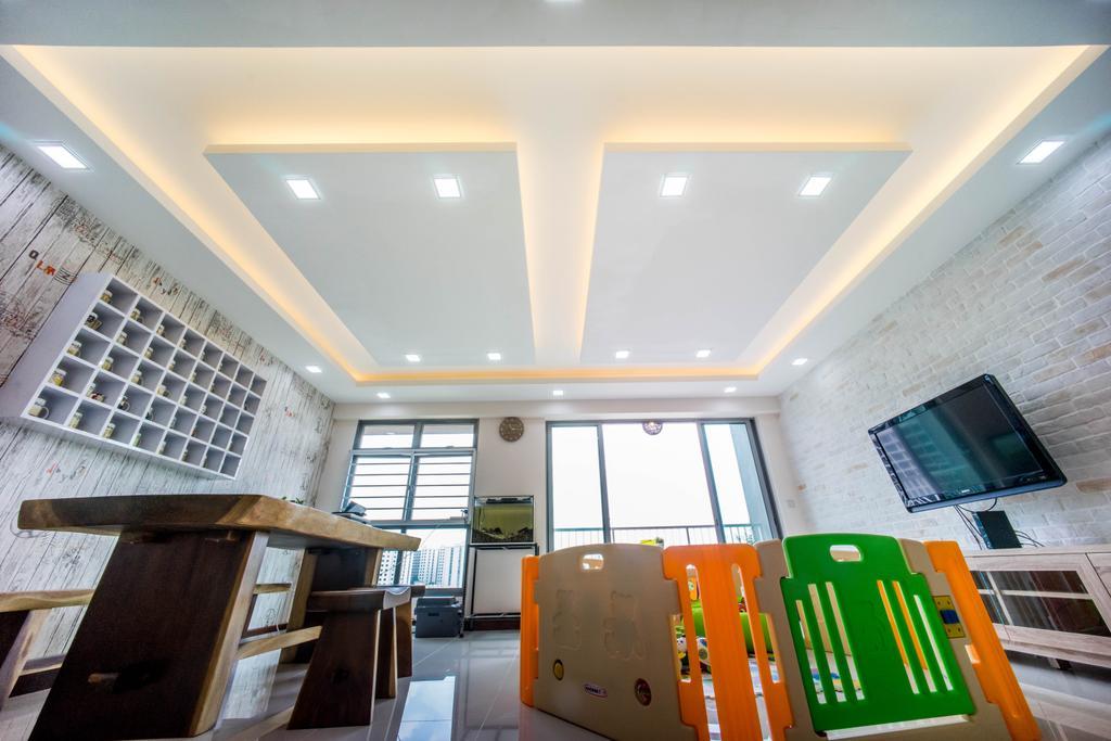 Contemporary, HDB, Living Room, Hougang Capeview (Block 477C), Interior Designer, Team Interior Design