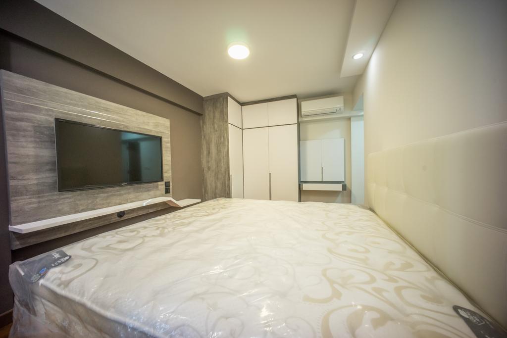 Contemporary, HDB, Bedroom, Punggol Drive (Block 677C), Interior Designer, Team Interior Design, Bed, Furniture, Lighting