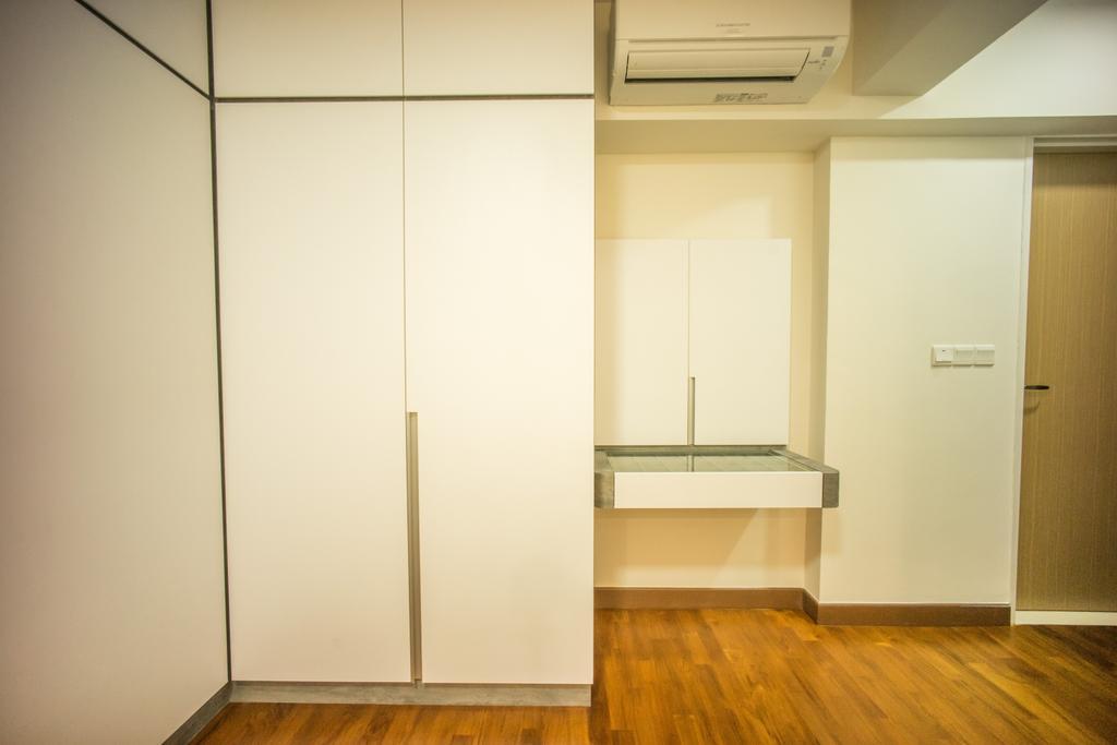 Contemporary, HDB, Bedroom, Punggol Drive (Block 677C), Interior Designer, Team Interior Design, Flooring
