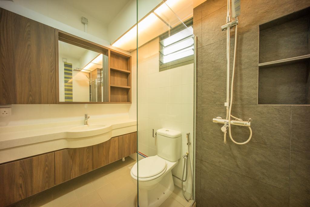 Contemporary, HDB, Bathroom, Punggol Drive (Block 677C), Interior Designer, Team Interior Design, Toilet, Indoors, Interior Design, Room