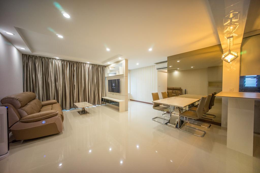 Contemporary, HDB, Living Room, Punggol Drive (Block 677C), Interior Designer, Team Interior Design, Couch, Furniture