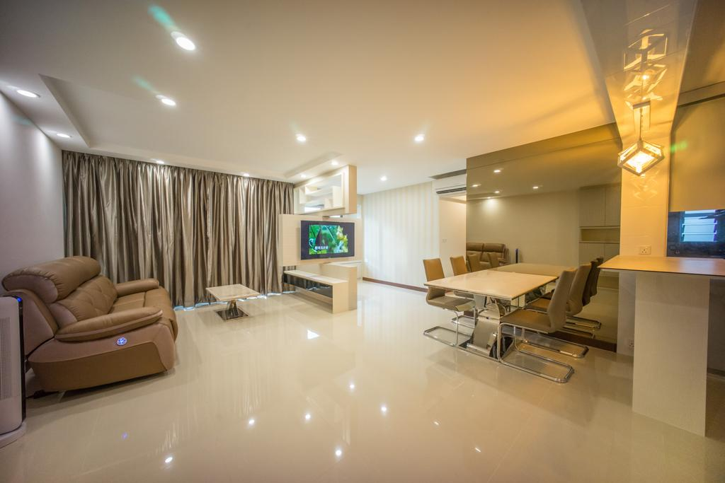 Contemporary, HDB, Living Room, Punggol Drive (Block 677C), Interior Designer, Team Interior Design, Couch, Furniture, Conference Room, Indoors, Meeting Room, Room