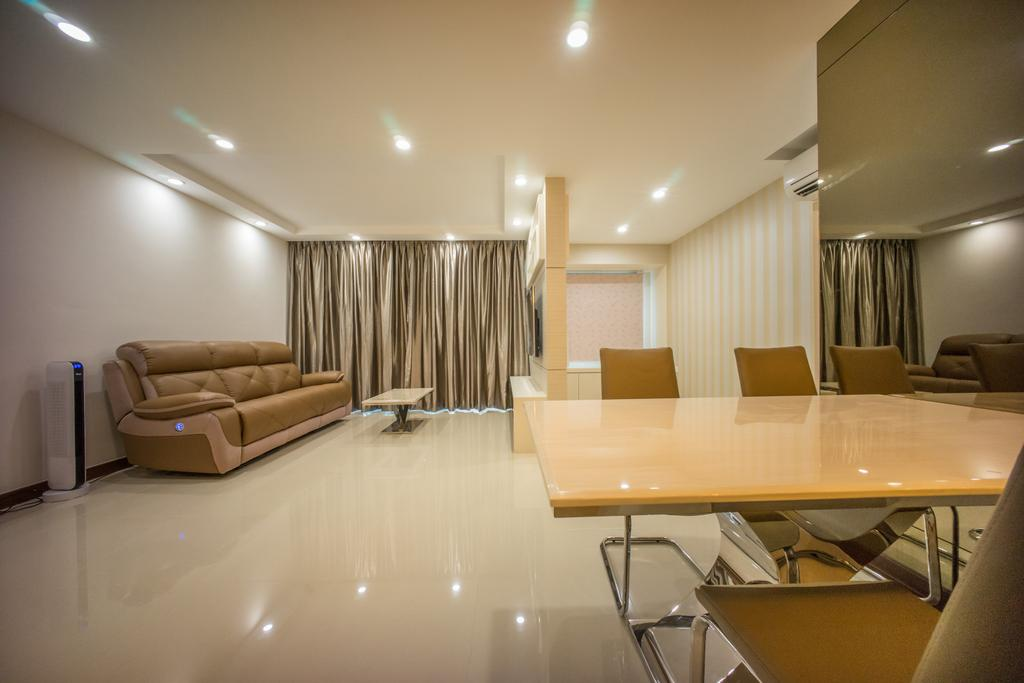 Contemporary, HDB, Dining Room, Punggol Drive (Block 677C), Interior Designer, Team Interior Design, Conference Room, Indoors, Meeting Room, Room, Couch, Furniture, Chair, Box