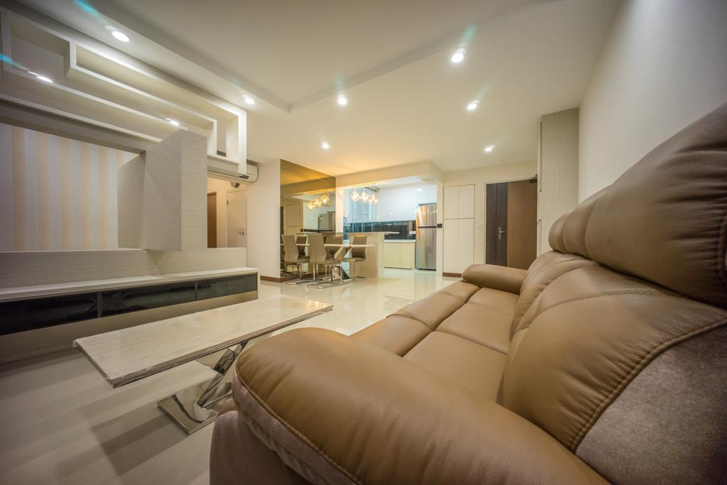 Contemporary, HDB, Living Room, Punggol Drive (Block 677C), Interior Designer, Team Interior Design, Indoors, Interior Design, Kitchen, Room