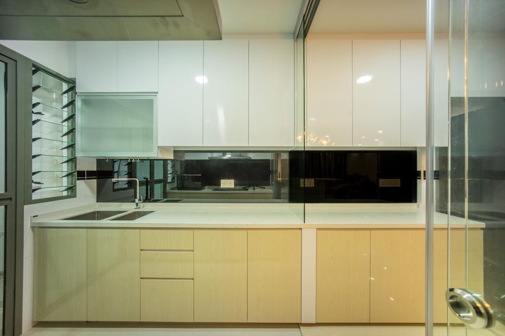 Contemporary, HDB, Kitchen, Punggol Drive (Block 677C), Interior Designer, Team Interior Design