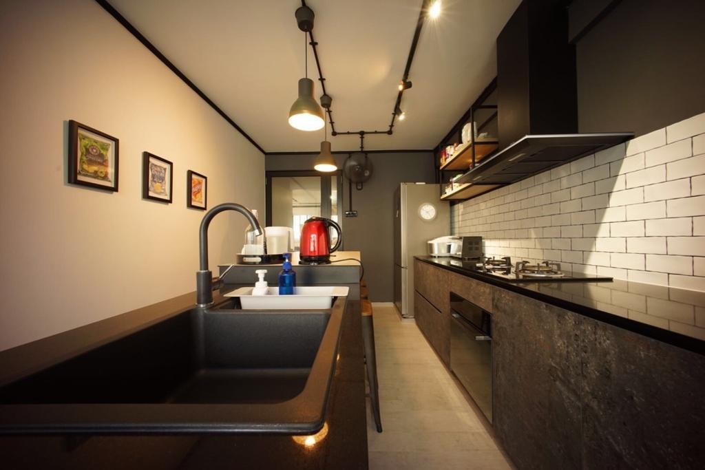 Industrial, HDB, Kitchen, Bedok North Road (Block 706), Interior Designer, Team Interior Design, Sink