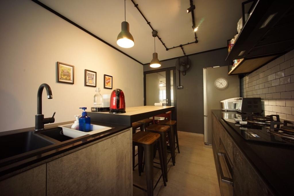 Industrial, HDB, Kitchen, Bedok North Road (Block 706), Interior Designer, Team Interior Design, Appliance, Electrical Device, Oven, Dining Room, Indoors, Interior Design, Room