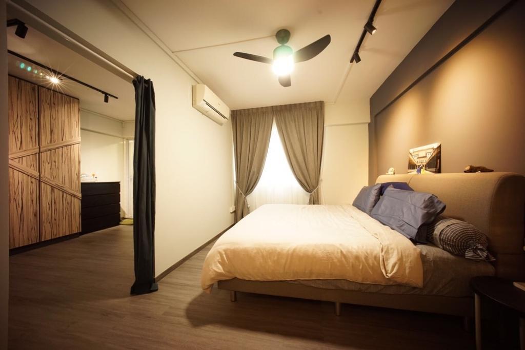Industrial, HDB, Bedroom, Bedok North Road (Block 706), Interior Designer, Team Interior Design, Bed, Furniture
