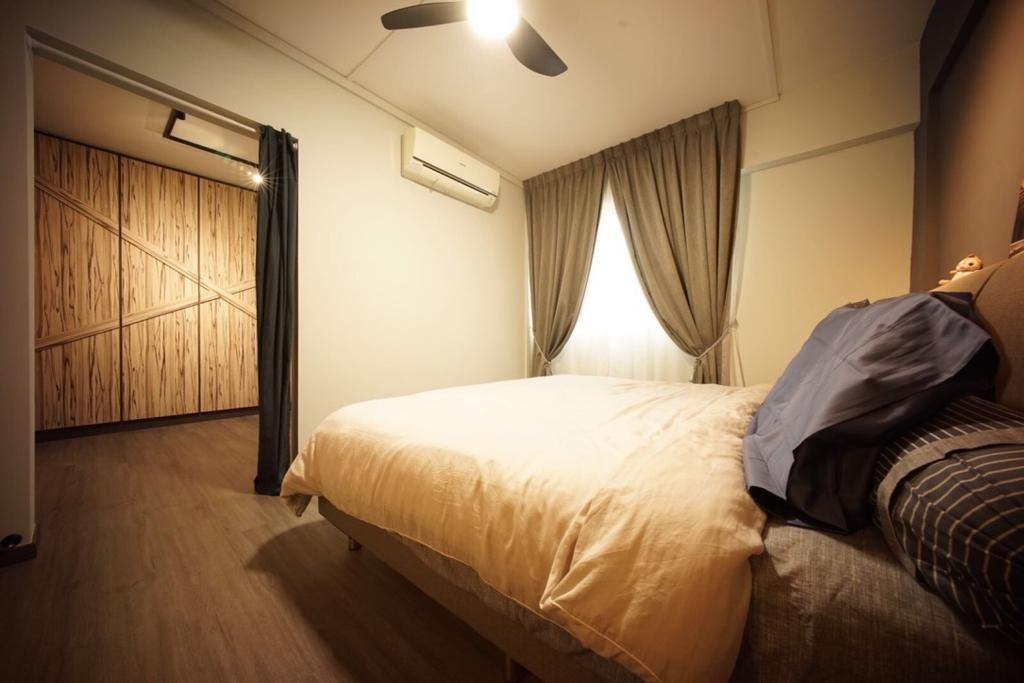 Industrial, HDB, Bedroom, Bedok North Road (Block 706), Interior Designer, Team Interior Design, Bed, Furniture, Indoors, Interior Design, Room