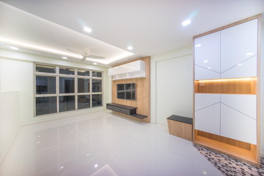 Minimalistic, HDB, Living Room, Compassvale Bow (Block 275A), Interior Designer, Team Interior Design, Indoors, Interior Design