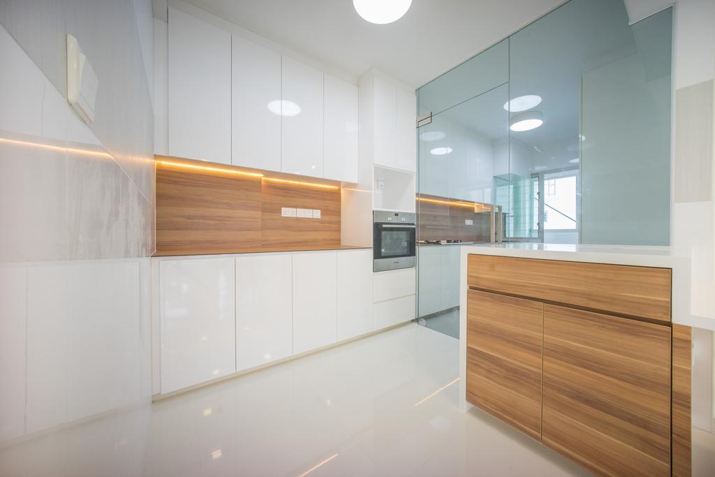 Minimalistic, HDB, Kitchen, Compassvale Bow (Block 275A), Interior Designer, Team Interior Design, Furniture, Sideboard