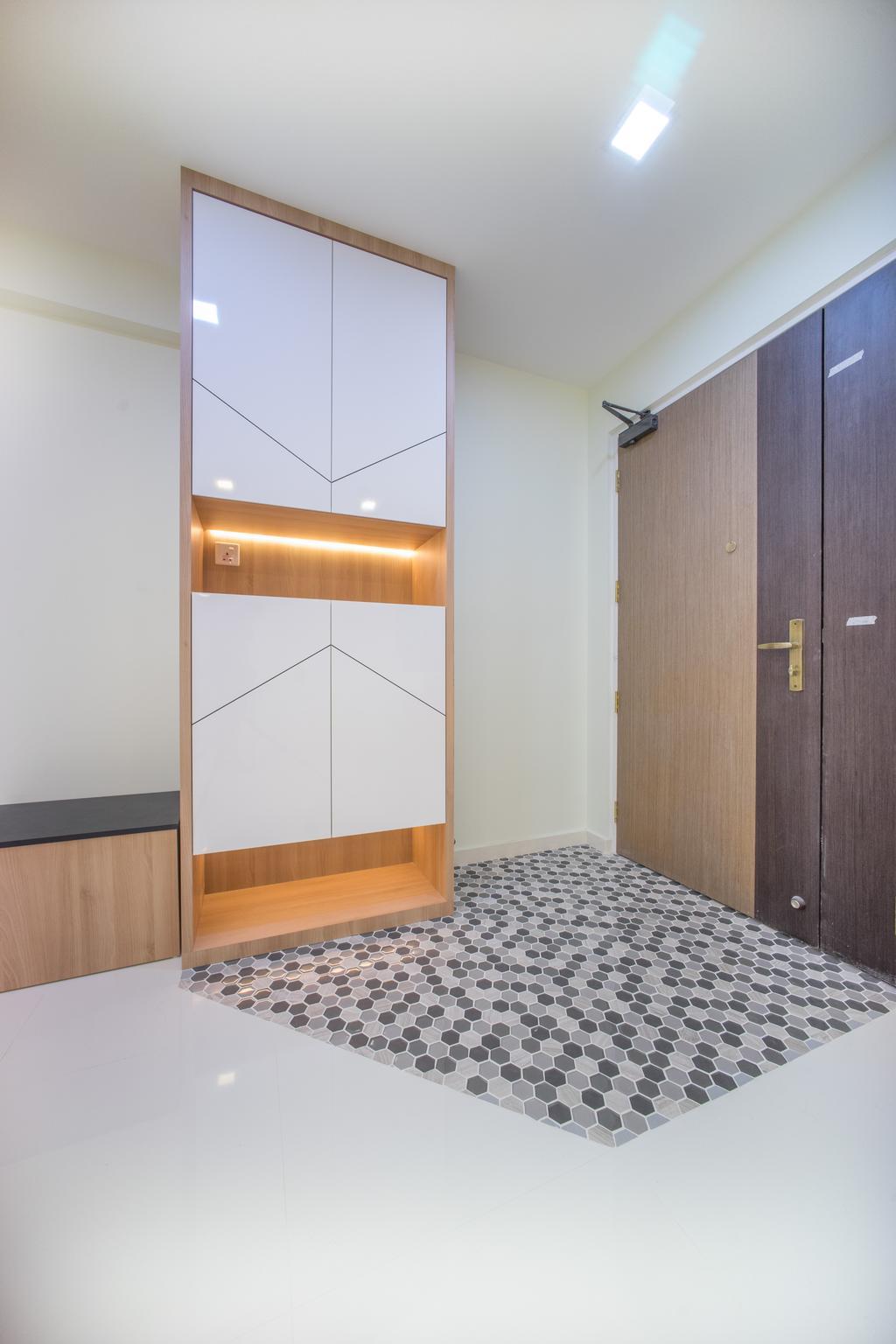 Minimalistic, HDB, Living Room, Compassvale Bow (Block 275A), Interior Designer, Team Interior Design