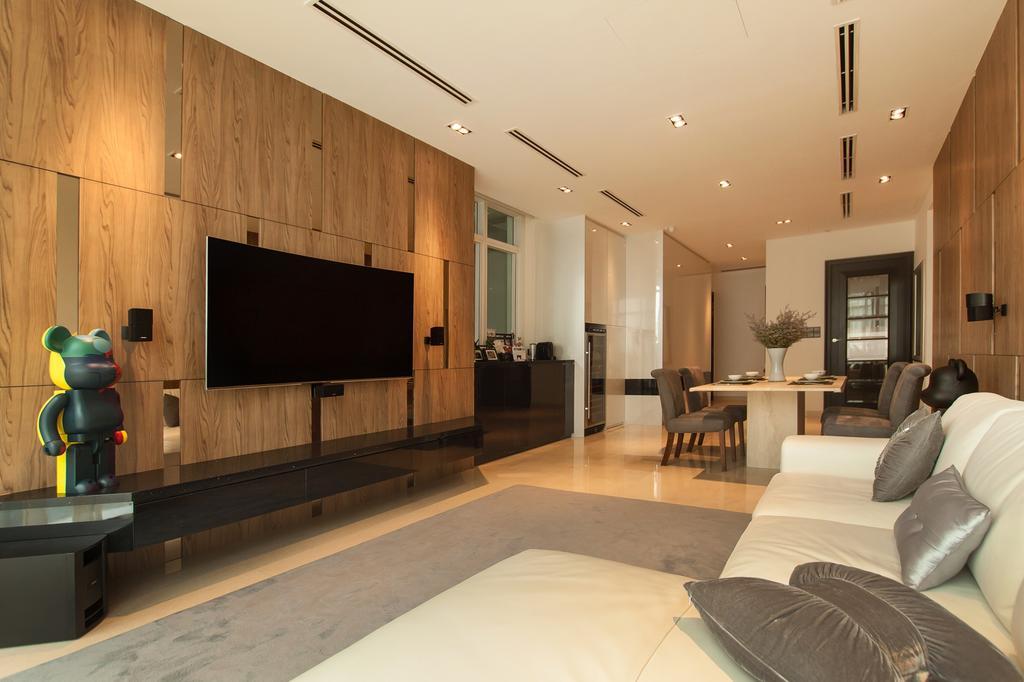Modern, Condo, Living Room, Cuscaden Residence, Interior Designer, Space Atelier, Scandinavian, Indoors, Interior Design, Couch, Furniture