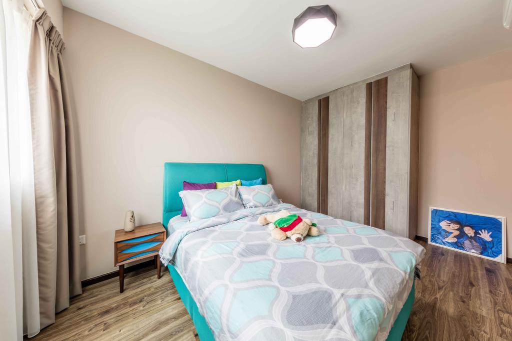 Scandinavian, HDB, Bedroom, Upper Serangoon Crescent, Interior Designer, Ciseern, Bed, Furniture, Indoors, Interior Design, Room