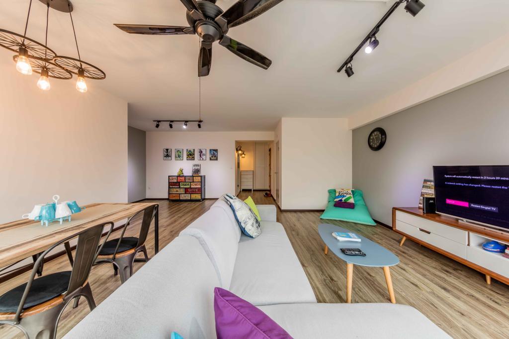 Scandinavian, HDB, Living Room, Upper Serangoon Crescent, Interior Designer, Ciseern, Chair, Furniture, Indoors, Room