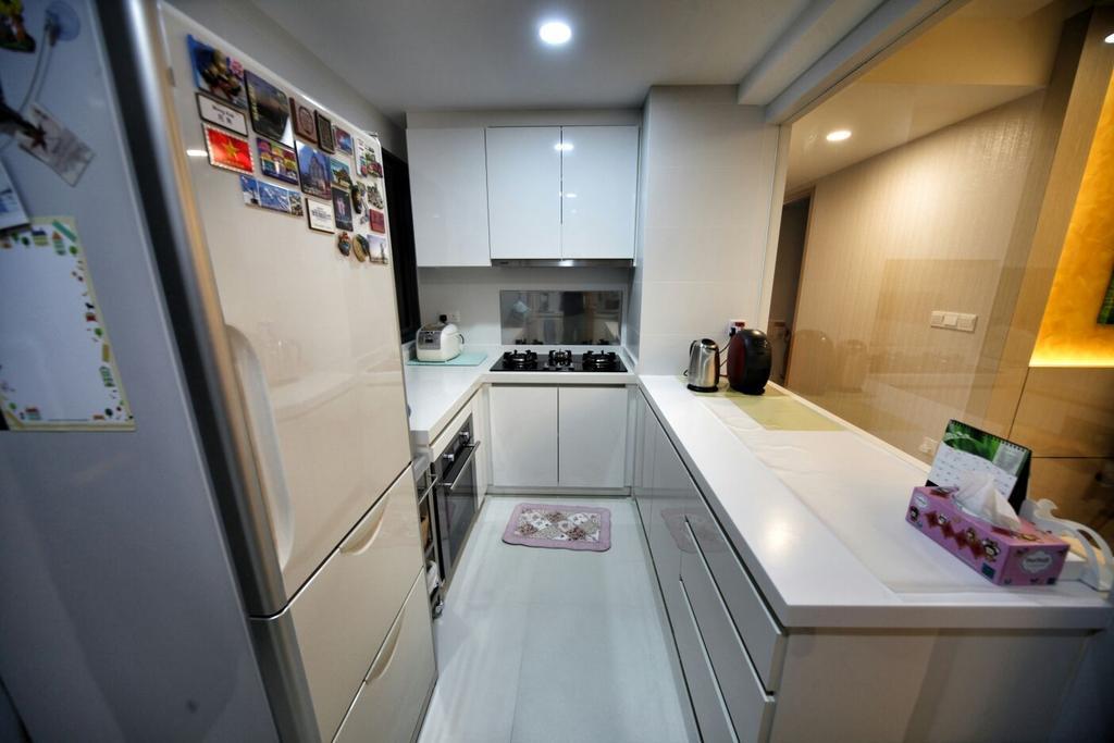 Contemporary, Condo, Kitchen, Punggol, Interior Designer, Interior Diary, HDB, Building, Housing, Indoors