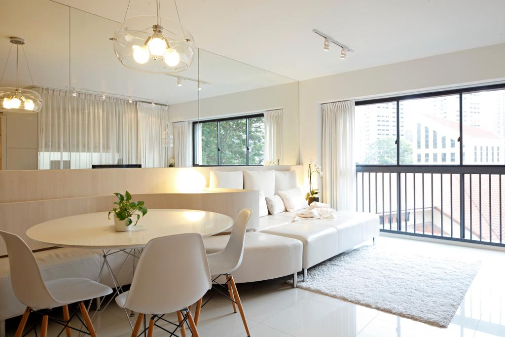 Contemporary, HDB, Dining Room, The Pinnacle@Duxton, Architect, EHKA Studio, Chair, Furniture, Indoors, Interior Design, Room, Window, Dining Table, Table, Living Room