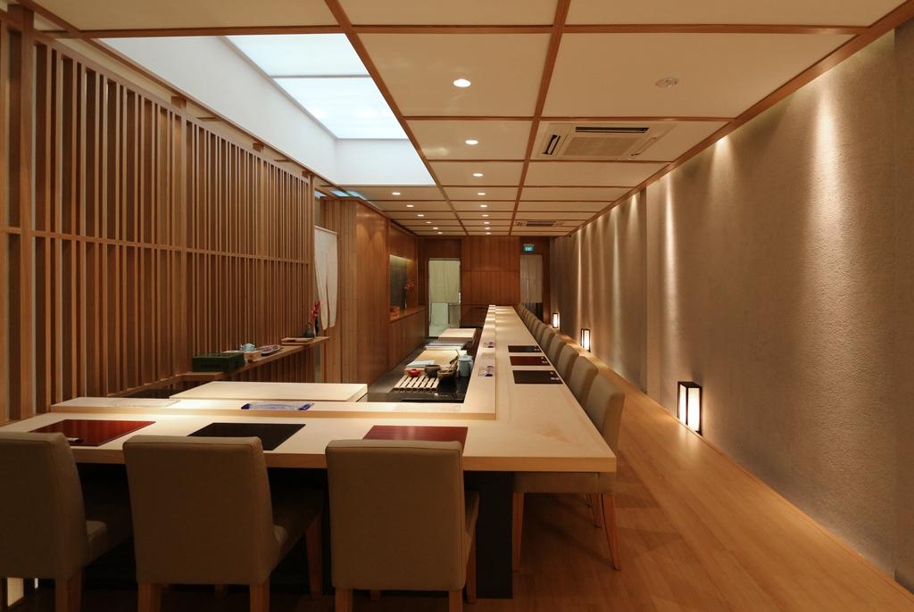 Sushi Mitsuya Restaurant, Commercial, Architect, EHKA Studio, Minimalistic, Conference Room, Indoors, Meeting Room, Room, Dining Table, Furniture, Table