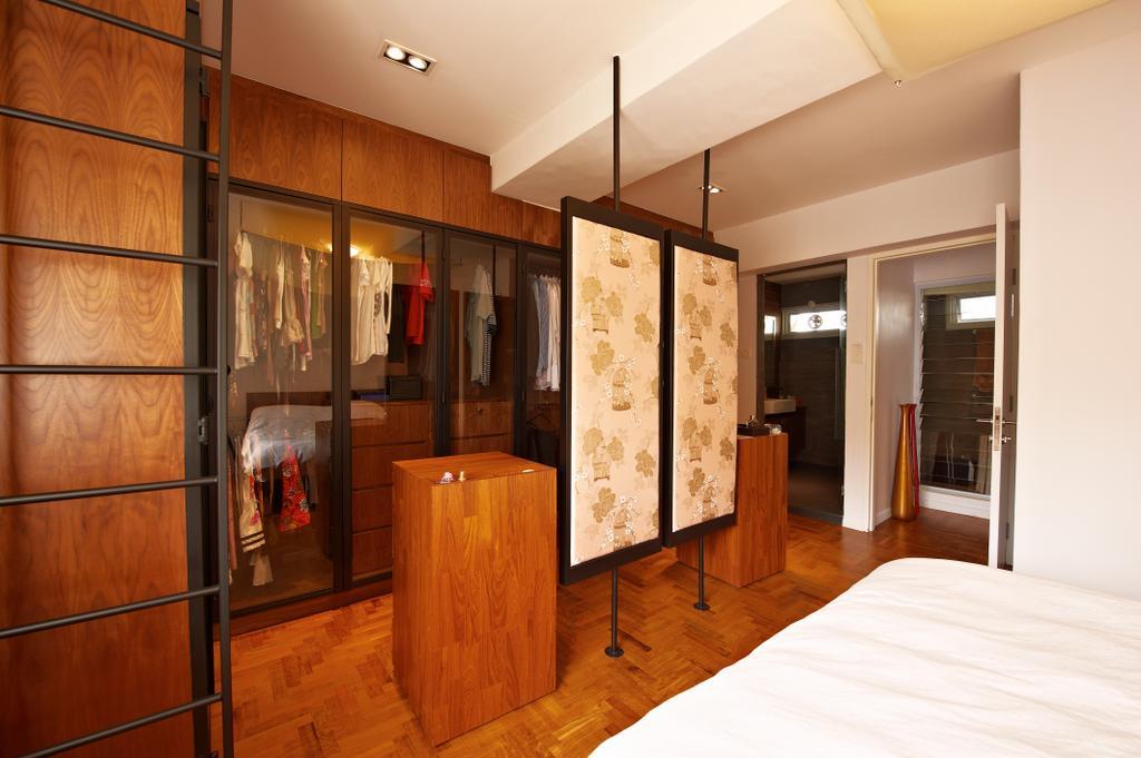 Contemporary, Condo, Bedroom, Hillcrest Arcadia, Interior Designer, Seven Heaven, Hardwood, Stained Wood, Wood