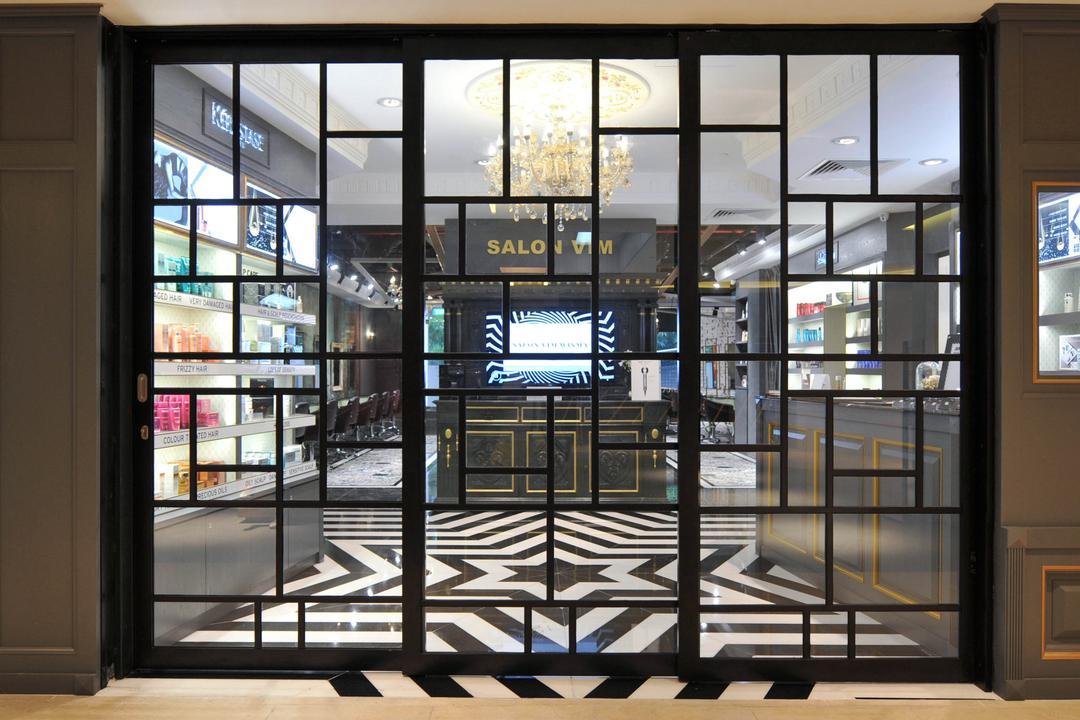 Salon Vim at Wisma Atria, Seven Heaven, Modern, Commercial, Door, Revolving Door, Billboard, Scoreboard