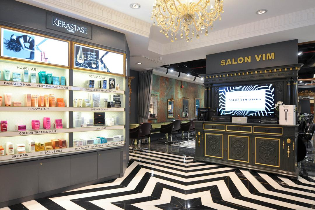 Salon Vim at Wisma Atria, Seven Heaven, Modern, Commercial, Chandelier, Lamp, Stage, Shop