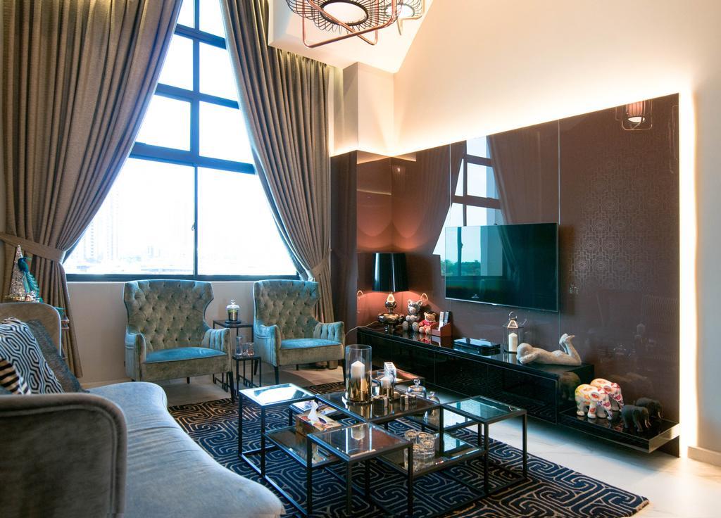 Modern, Condo, Living Room, The Summit, Interior Designer, Seven Heaven, Couch, Furniture, HDB, Building, Housing, Indoors, Dining Room, Interior Design, Room, Restaurant, Cafe
