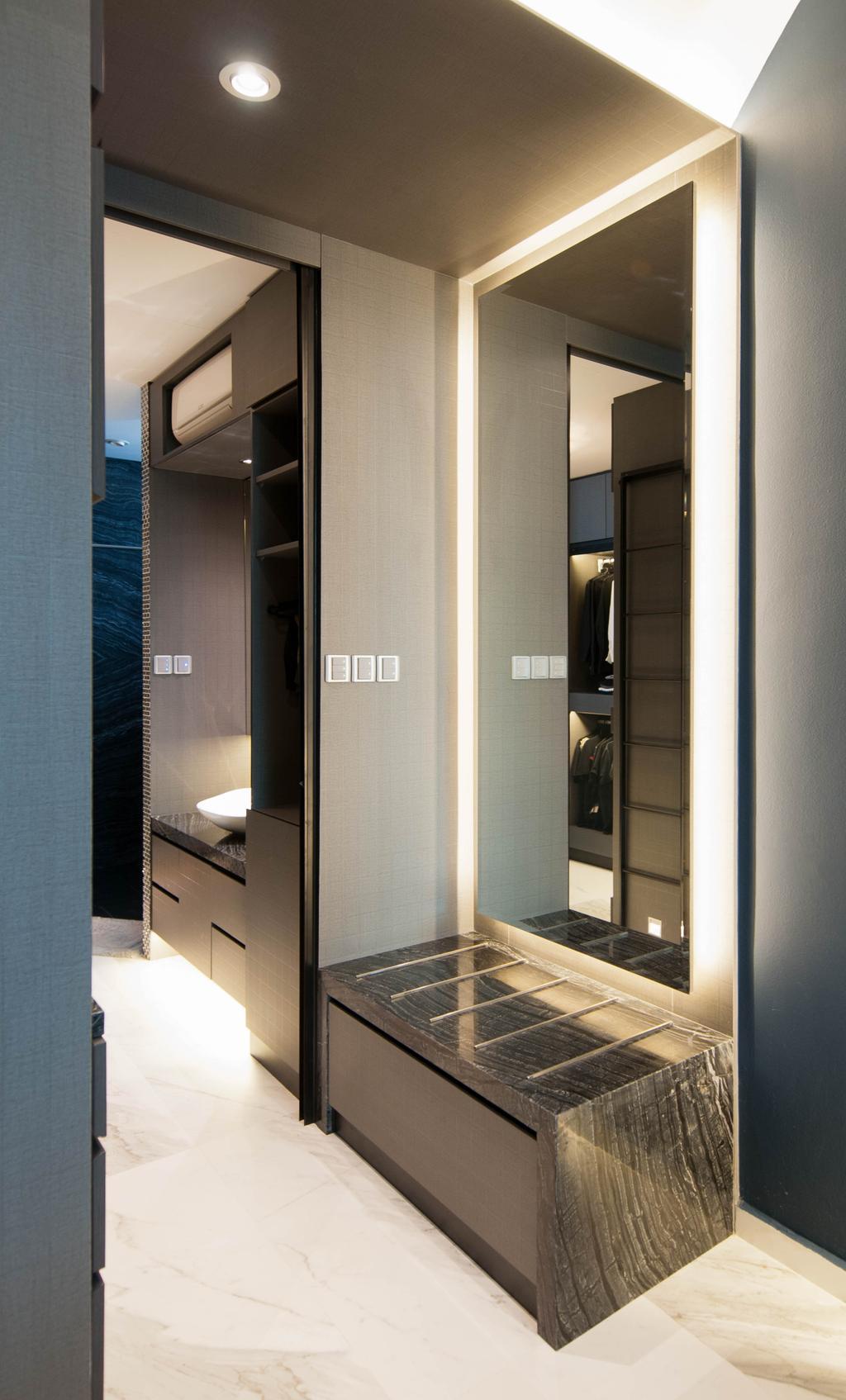 Modern, Condo, Bedroom, The Summit, Interior Designer, Seven Heaven, Door, Sliding Door