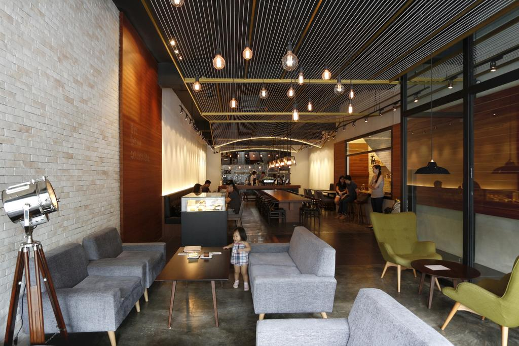 The Brew Orchestra, Commercial, Architect, EHKA Studio, Industrial, Couch, Furniture, Tripod, Cafe, Restaurant, Chair