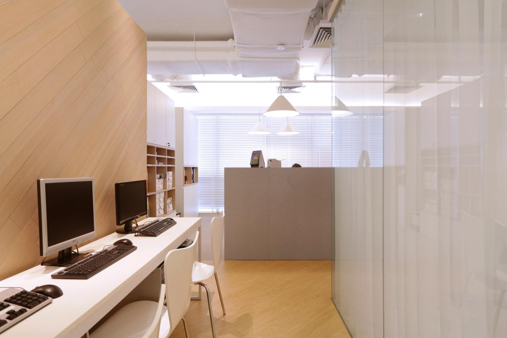 POLWEL Office, Commercial, Architect, EHKA Studio, Modern, Bathroom, Indoors, Interior Design, Room, Computer, Electronics, Pc
